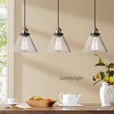 Pendant lighting plug in Multiple Kitchen Island Glass Pendant Light Bar Cafe Restaurant Suspension Light Plugin Led Pendant Matte Black Finish Clear Glass Everythingkidsco Kitchen Island Glass Pendant Light Bar Cafe Restaurant Suspension