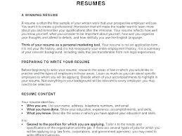 Work Objective For Resume Work Objective For Resume New Career