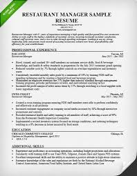 Manager Resume Sample Beauteous Restaurant Manager Resume Sample Tips Resume Genius