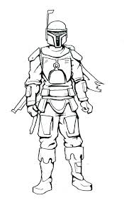 Star Wars Boba Fett Coloring Pages In Star Wars Coloring Page Lego