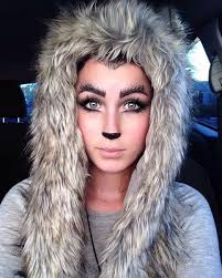 wolf makeup and hairdo