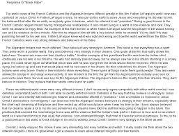 response to the movie black robe at com essay on response to the movie black