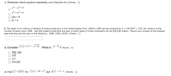 determine which equation represents y as a func