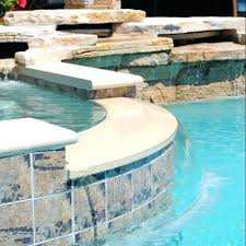 pool coping options around the and spa removal a liner option pool coping