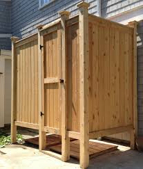 outdoor showers designs kit deluxe free standing