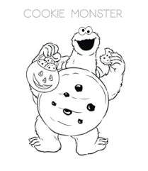 Cookie Coloring Pages Playing Learning