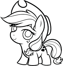 My Little Pony Characters Coloring Pages With Baby My Little Pony