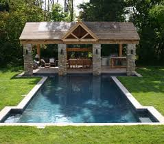 image of backyard patio designs with pool