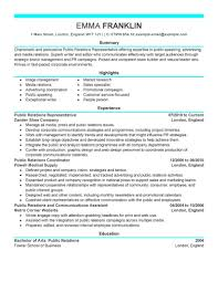 Pr Resume Examples Best Public Relations Resume Example LiveCareer 2