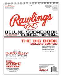 Baseball Score Book Pages Amazon Com Rawlings Deluxe System 17 Baseball Scorebook Coach