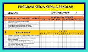Contoh jurnal kepala sekolah tk mp3 & mp4. Program Kerja Kepala Sekolah Excel Kepala Sekolah Sekolah Pendidikan