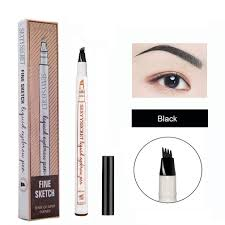 The Face Shop Designing Matte Eyebrow Pencil Microblading Eyebrow Pencil Tattoo Brow Ink Pen Waterproof Long Lasting Smudge Proof Eyebrow Tattoo Pen With Micro Fork Tip Eyes Makeup Black