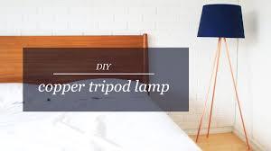Diy Copper Tripod Lamp The Sorry Girls Youtube
