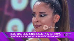 Federico Bal lloró desconsoladamente por el grave estado de salud de su  papá, Santiago Bal - YouTube