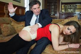 Wife naughty gets spanked by husband