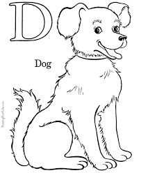 Small Picture Alphabet Coloring Pages Letter D