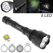 Securitying Lights Securitying Waterproof 10w 1500 Lumens Q5 Led Flashlight With 300m Range And 5 Modes Light