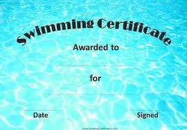 Printable Swimming Award Certificates Download Them Or Print