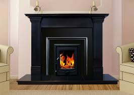 oslo marble fireplace in black granite fireplaces ireland for idea 11