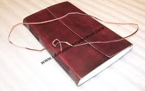leather plain note book