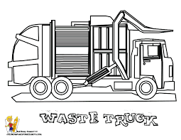 Grimy Garbage Truck Coloring Page Free Construction Coloring