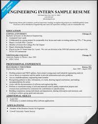 Civil Engineering Intern Resume Sample