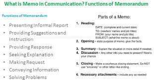 what is a business memo what is business memo in communication functions of memorandum