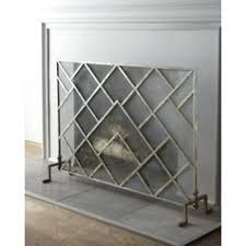 modern fireplace screen vestal 23 tall grate contemporary screens glass smlf
