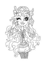 Small Picture Lagoona Blue And Fish Coloring Page Monster High Coloring Page