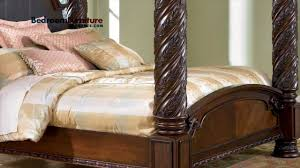 South Shore Bedroom Furniture Ashley North Shore Poster Bed Bedroom Youtube