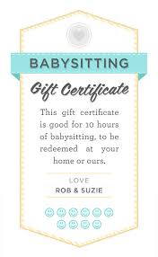 Printable Babysitting Coupon Template Magdalene Project Org
