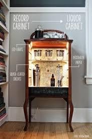 Home bar liquor cabinet