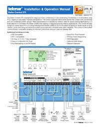 tekmar boiler control user manual pages