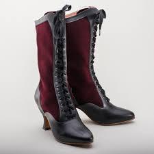 camille edwardian boots burdy black 1890 1930
