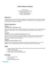 Resume Examples For Restaurant Jobs Cashier Resume Sample
