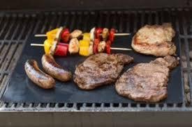 BBQ Grill Mat Set of 3 Mats Reusable Durable Non Stick Heat