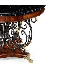 brass furniture. Jonathan Charles Furniture Baroque Iron \u0026 Brass Centre Table With Marble Top
