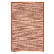 sa tangerine 8 ft x 11 ft indoor outdoor braided area rug