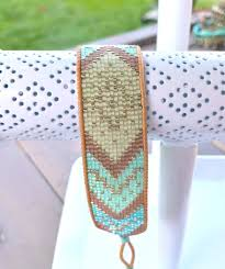 Bead Loom Patterns Best Seafoam Tribal Pattern Bead Loom Woven Cuff Bracelet Tower