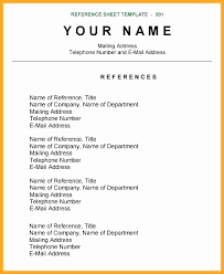 How To Create A Reference List For A Resume References Page Resume Lovely References Sample How To