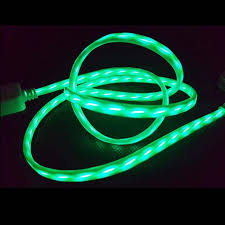 flexible led strip usb lighting cable charge cable for iphone and android charge wire neon light