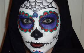 sugar skull face painting tutorial