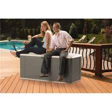 Rubbermaid 120gal Extra Large Deck Box With Seat  Olive Steel 2