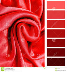 Red Color Chart Complimentary Chart Palette Stock Image Image Of Card