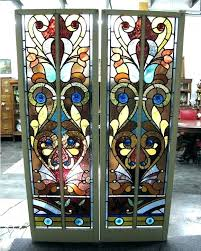 stained glass vintage stained glass panels reclaimed decorative panel for in with large antique