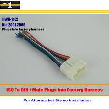 popular kia wiring harness buy cheap kia wiring harness lots from car stereo radio iso wiring harness connector cable for kia amanti optima rio sedona plugs