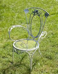Perfect Antique Iron Patio Furniture Chair I Inside Creativity Ideas