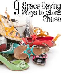 Space Saving Shoe Rack 11 Space Saving Ways To Organize Your Shoes My List Of Lists
