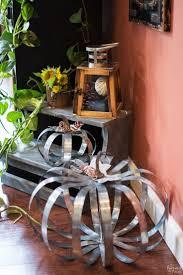 DIY - Pottery Barn Inspired Outdoor Metal Pumpkins