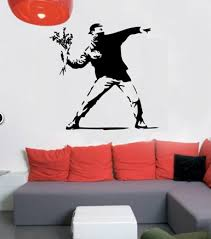 banksy flower thrower on banksy wall art sticker with products archive www banksywallstickers